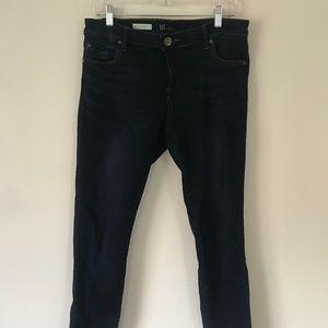 Kut Dark Wash Stretch Mia Mid Rise Skinny Jeans 10